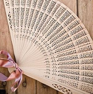 NIB Wooden Carved Hand Fans 15pk